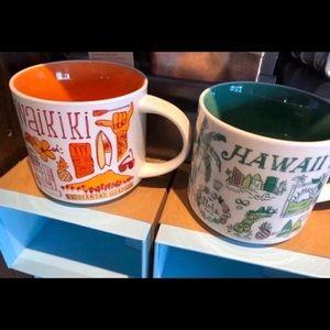 Starbucks-Been There Series -Hawaii & Waikiki Mugs